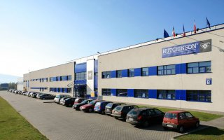 """The """"Hutchinson"""" company's building in Żywiec"""