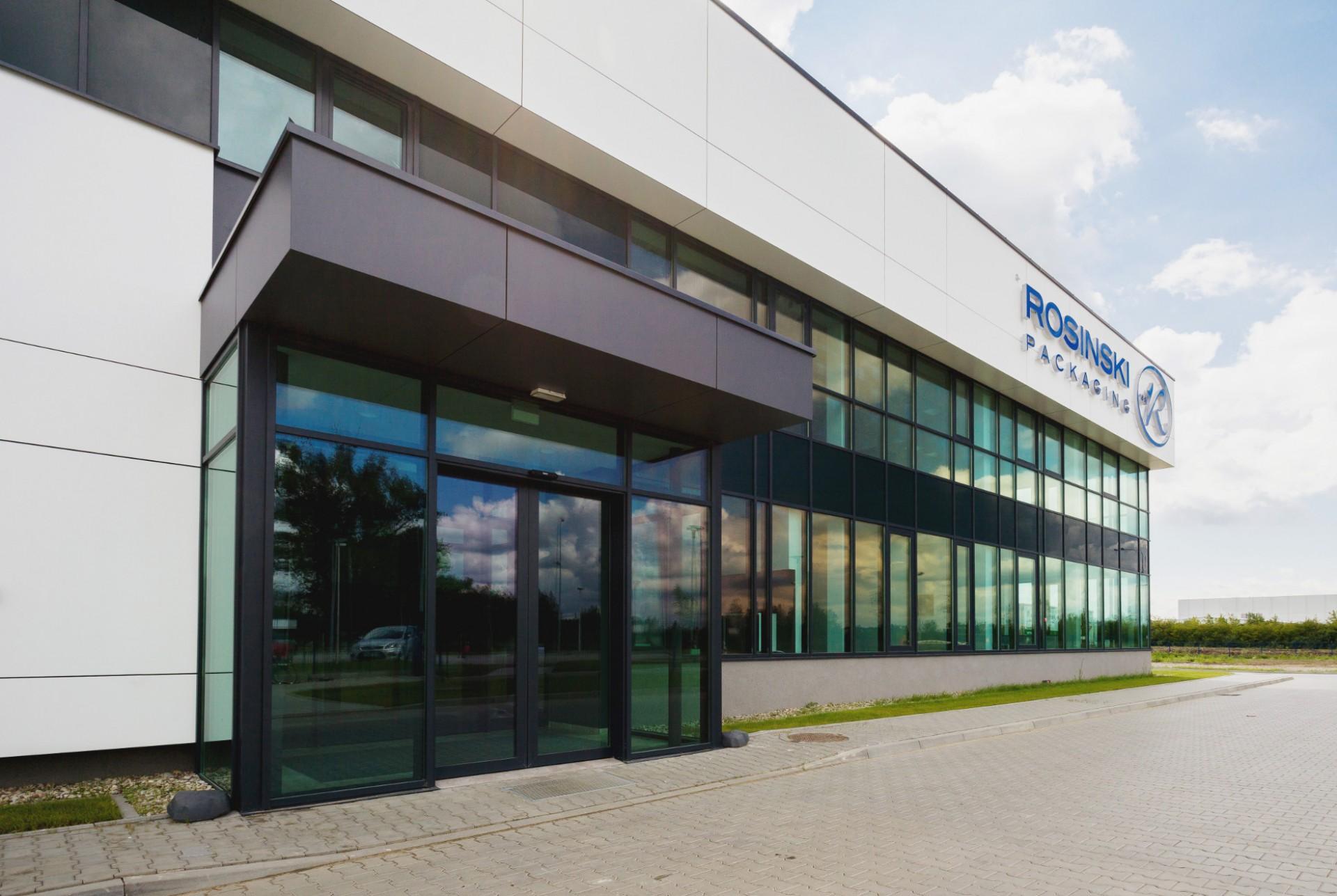 Obiekt firmy Rosiński Packaging w Nowym Dworze Mazowieckim