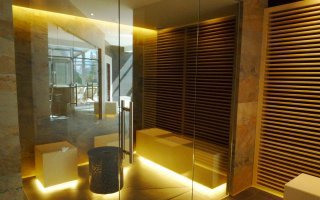 """The Spa zone and the sauna in the """"King Square"""" shopping centre in Cracow"""