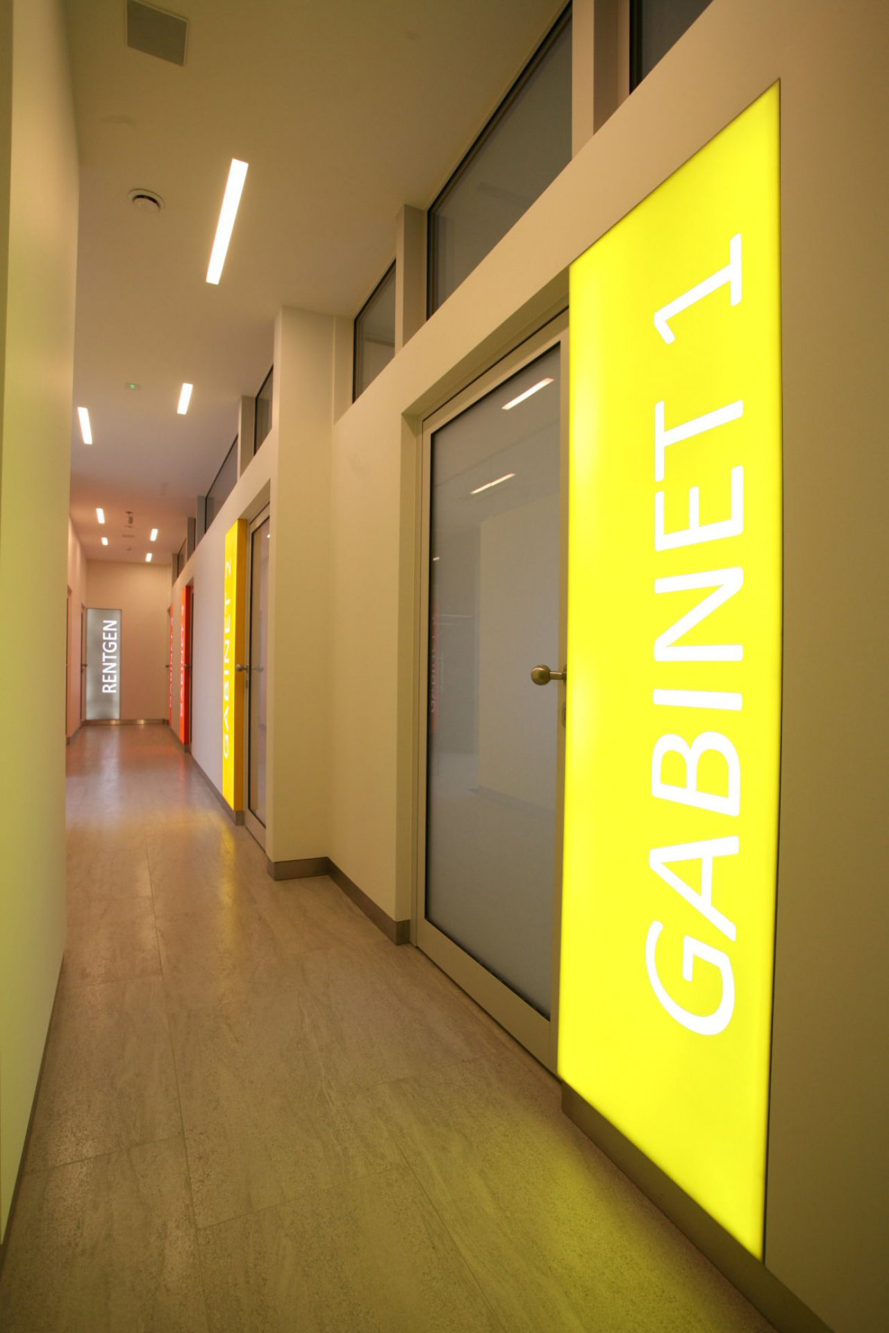 Wnętrza gabinetów dentystycznych Primadent w Bielsku-Białej