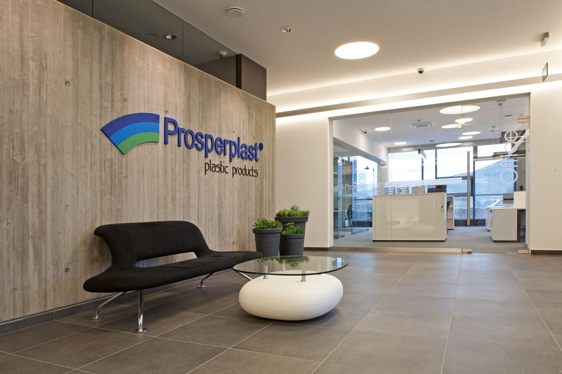 Wnętrza obiektu firmy Prosperplast w Rybarzowicach