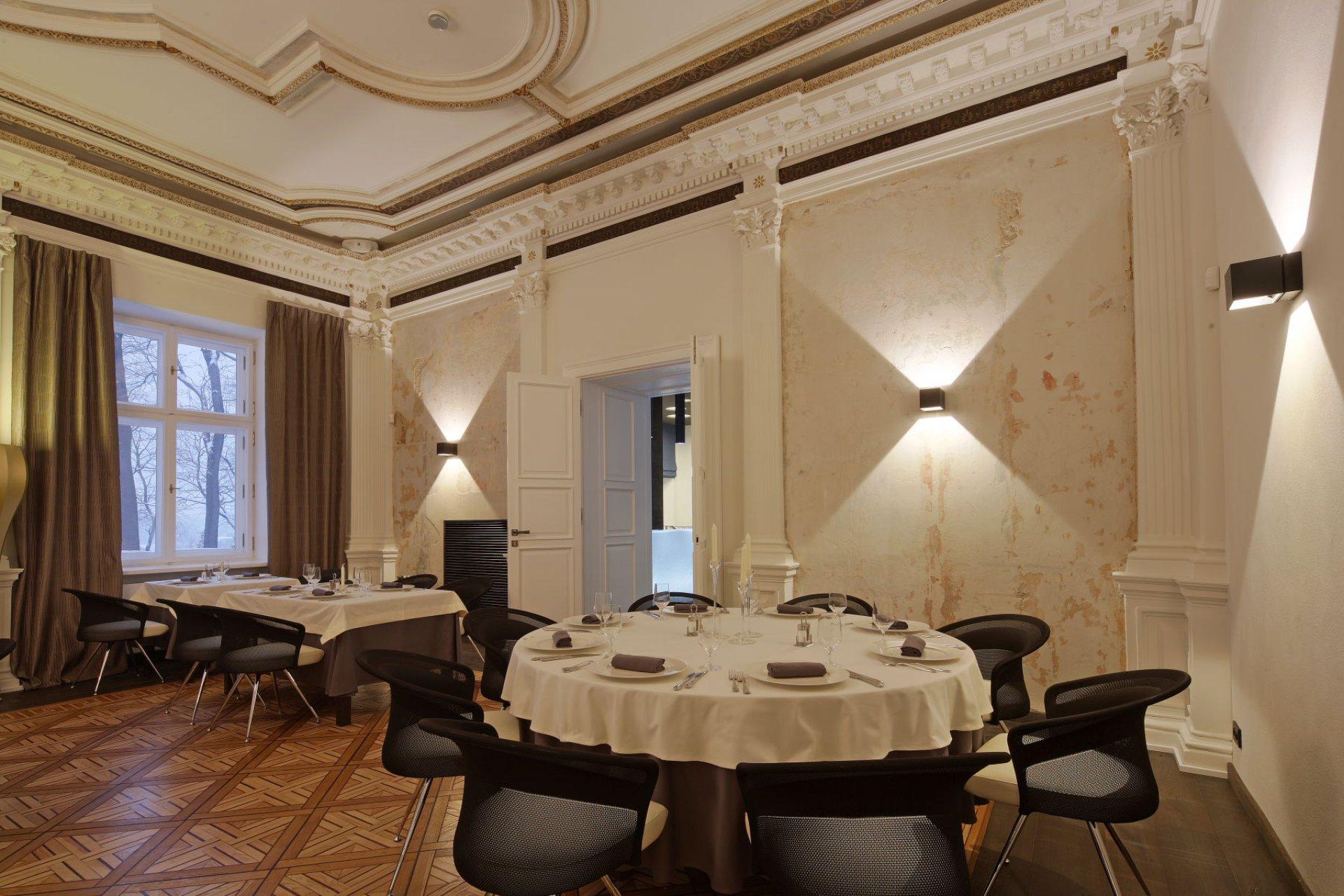 Wnętrza restauracji Dworek New Restaurant w Bielsku-Białej