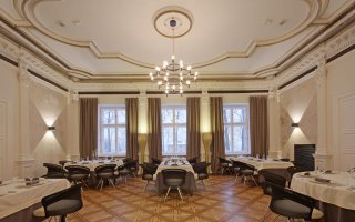 "Interior of restaurant ""Dworek New Restaurant"" in Bielsko-Biała"